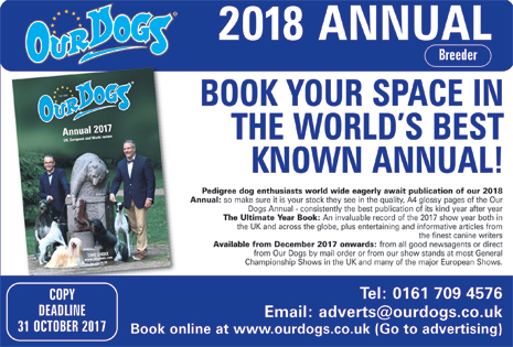 Our Dogs Annual  2018